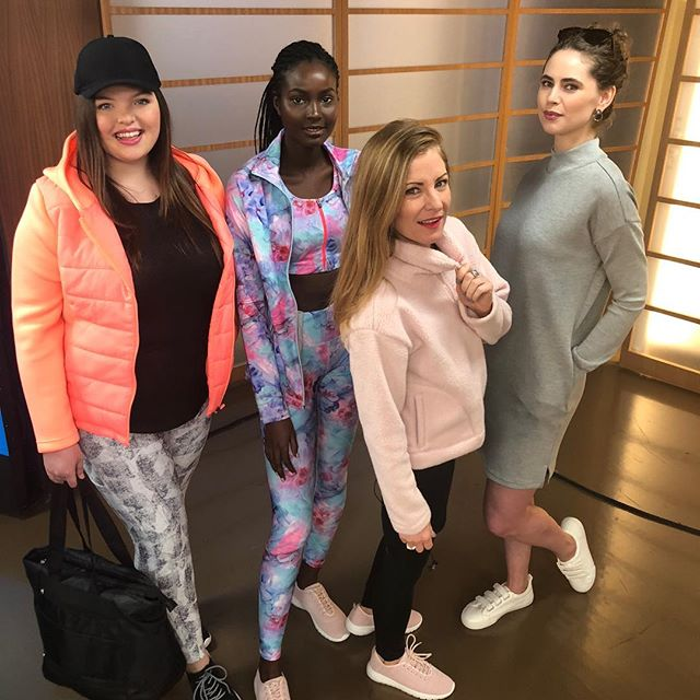 @joefresh #athleisure trends w/ these beauties on @bt_vancouver this morning! #joefresh #spring #forward #workout #workoutgear #newyear #newyou #gym #gymstyle #setlife #TV #style #styleexpert #brand #spokesperson #worklife 💕💕
