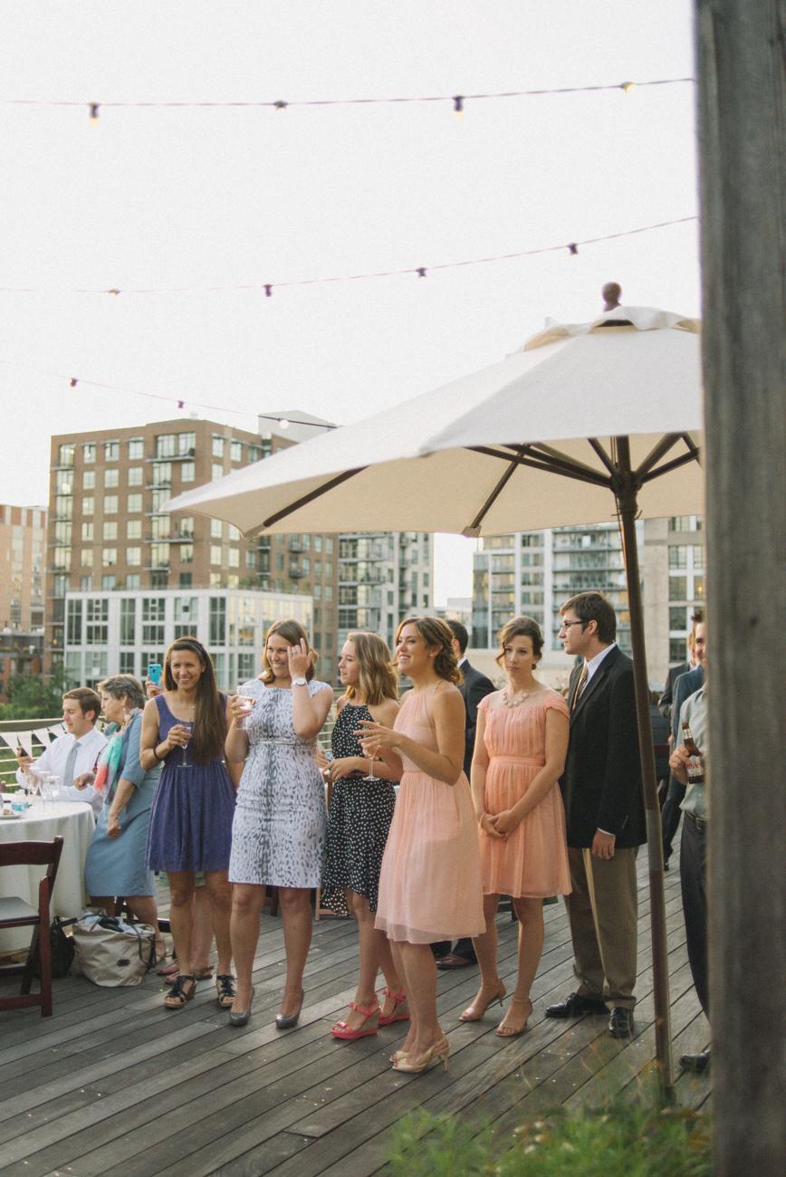ecotrust-building-wedding-reception-first-dance-audience-portland-oregon-shelley-marie-photo