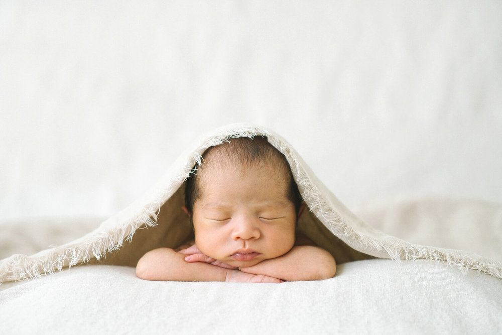 Portland oregon newborn photographer sleeping baby girl shelley