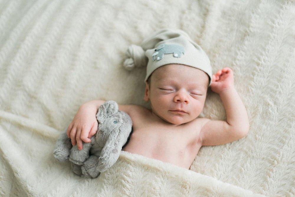 best-portland-oregon-newborn-photographer-sleeping-baby-boy-cuddling-with-elephant-stuffed-animal-shelley-marie-photography-43.jpg