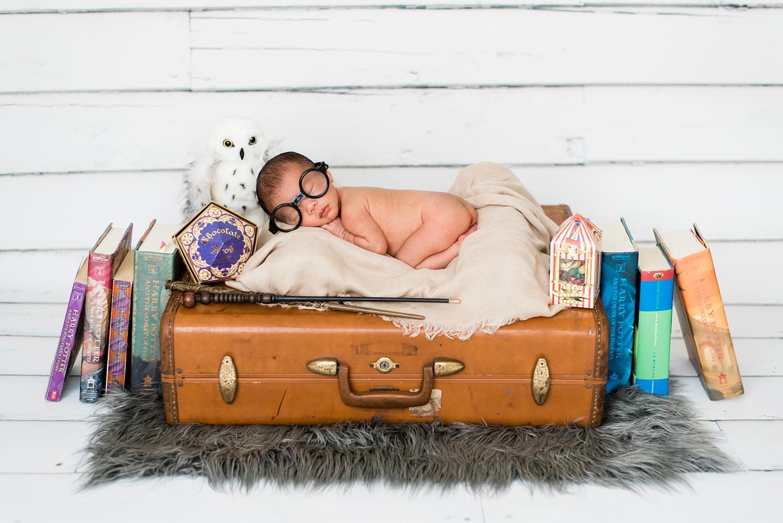 Harry potter themed newborn session portland wedding photography newborn photographer shelley marie photo www shelleymariephoto com