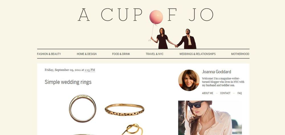 Cup of Jo Simple Wedding Rings