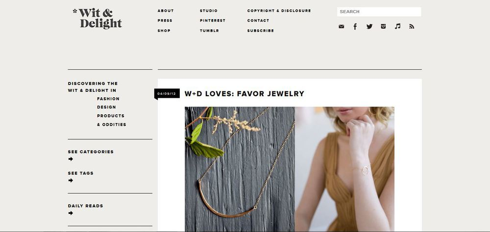 Wit & Delight Loves Favor Jewelry