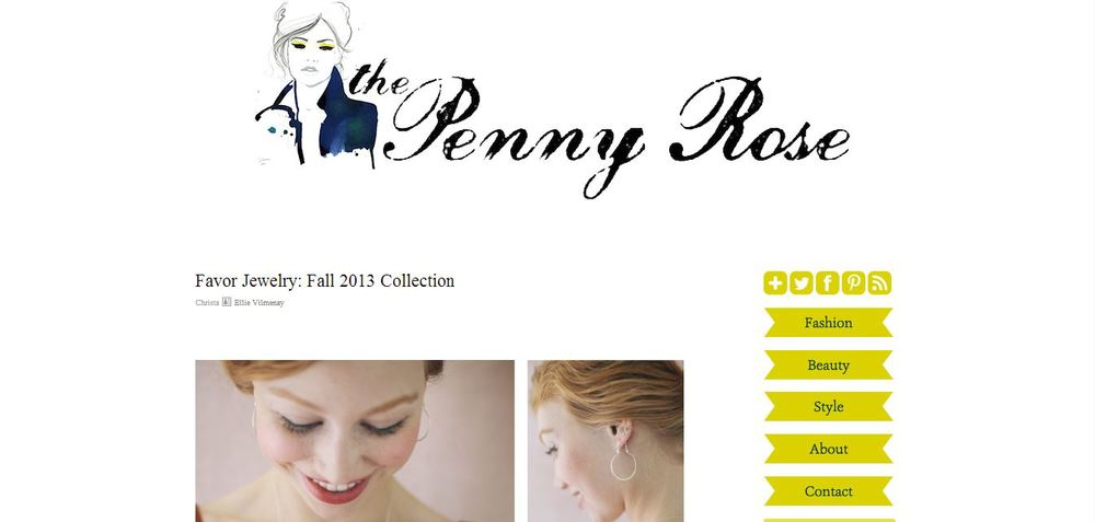 The Penny Rose Favor Jewelry