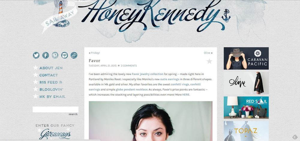 Honey Kennedy featuring Favor Jewelry