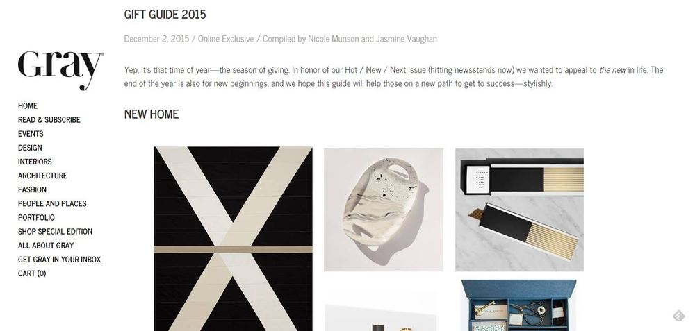 Gray Magazine Gift Guide 2015