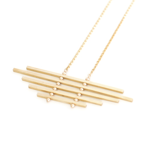 horn white crossbar grande ink alloy necklace hathor products