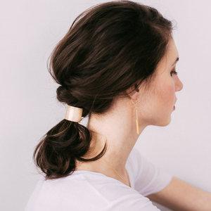 Cusp Brass Ponytail Hair Tie Cover — Favor Jewelry 9c4b24b6b64