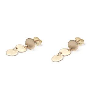 d833b7d48 Minimal Disc Transit Earrings | Favor Jewelry