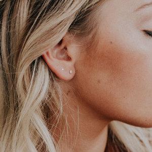 9eae78734 tiny rose gold confetti post earrings. Tiny Dot Confetti Post Earrings +  Ultra Minimal Ghost Posts