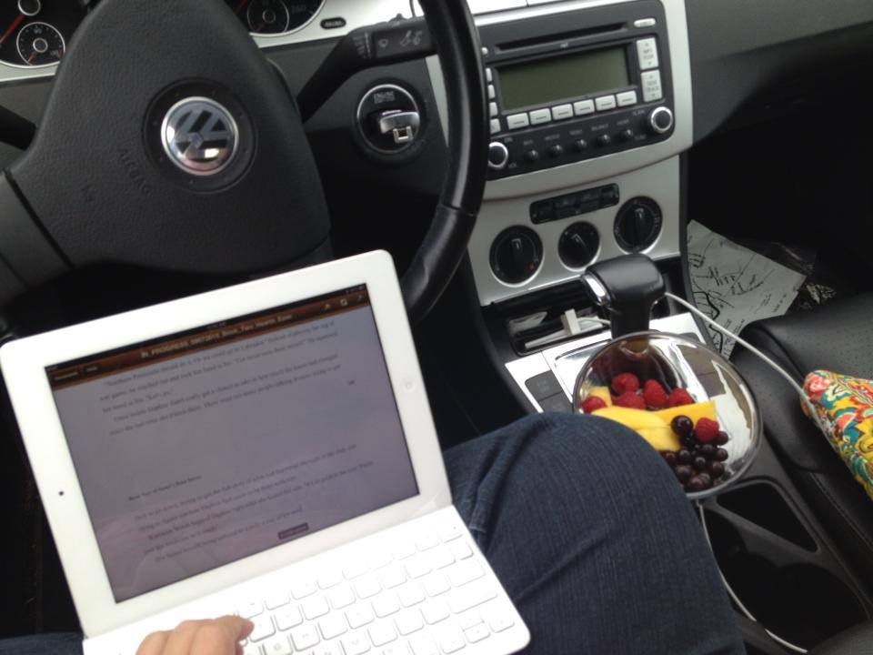 Hey. At least I'm eating fruit while I write in my car. That's progress.