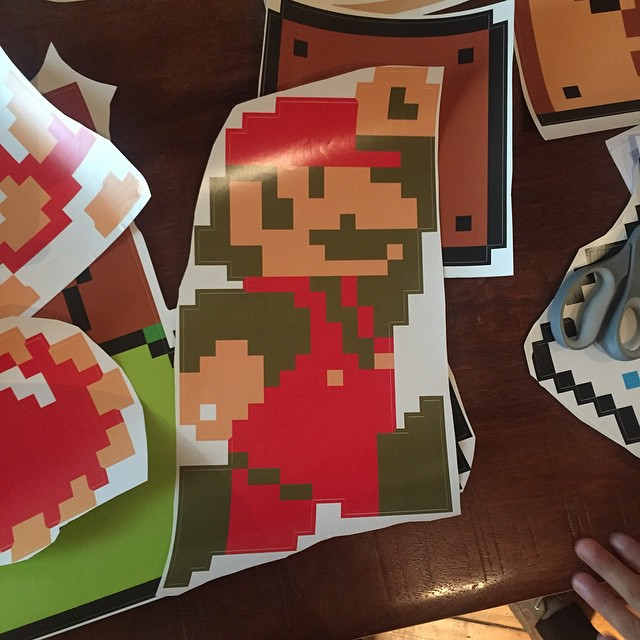 Our special Mario package from @whatisblik arrived today for a new wall installation! Beers are out and were planning the new Mario Bros wall.