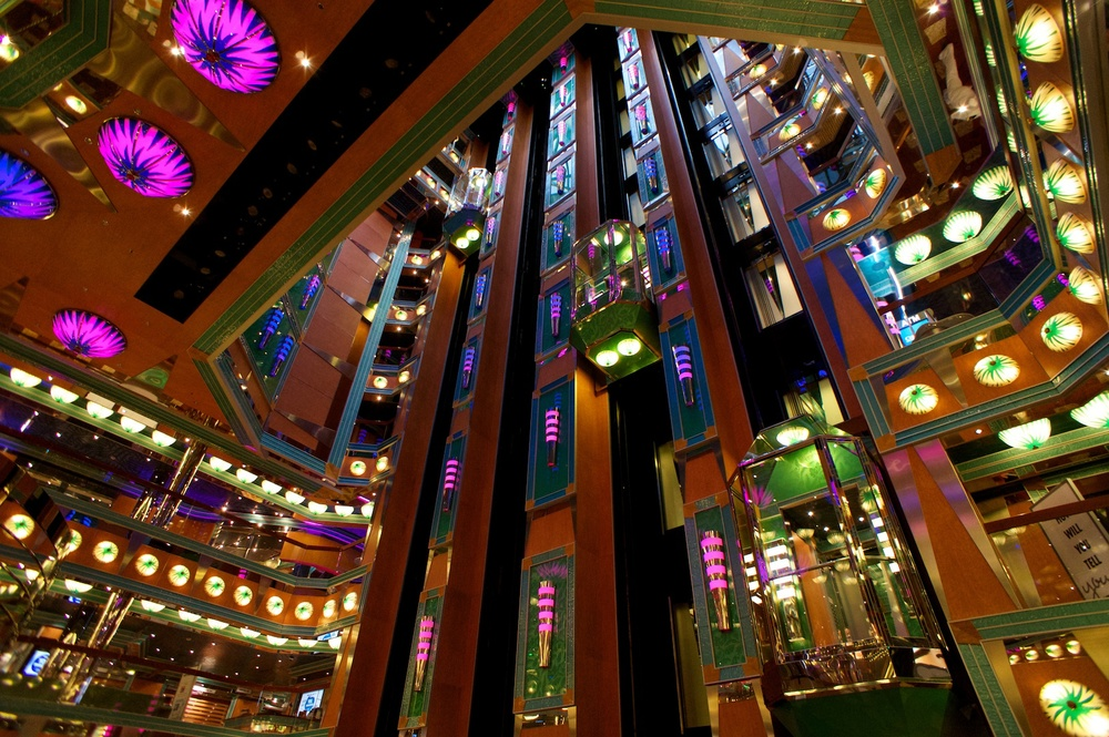 Carnival Magic Promenade Elevators