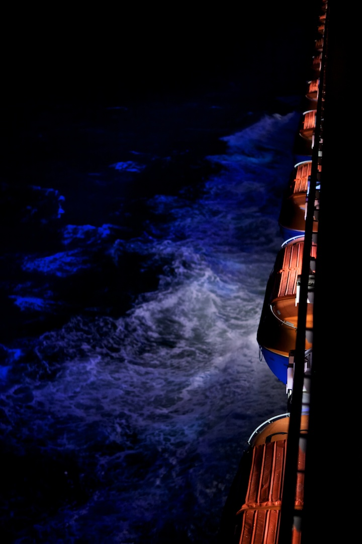 Carnival Triumph at night