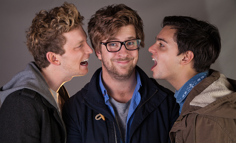 Creator/Director Matt Smolen (Center) with Shane Savage (Chris, Left) and Matt Werkmeister (Josh, Right)