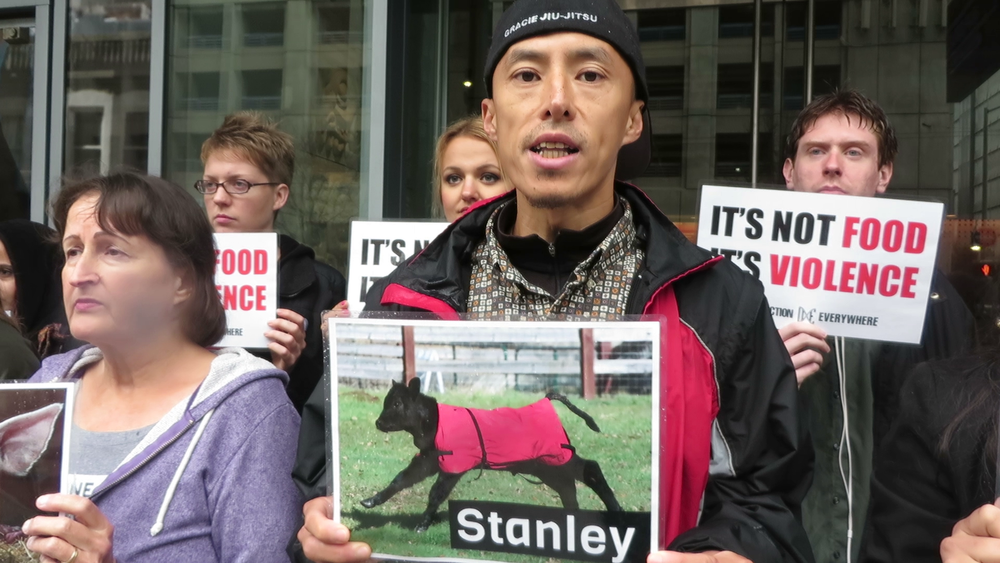 Stanley was stuffed into a crowded room with his mother by violent men who wanted him dead, but he ran for freedom and was found on a nearby road.