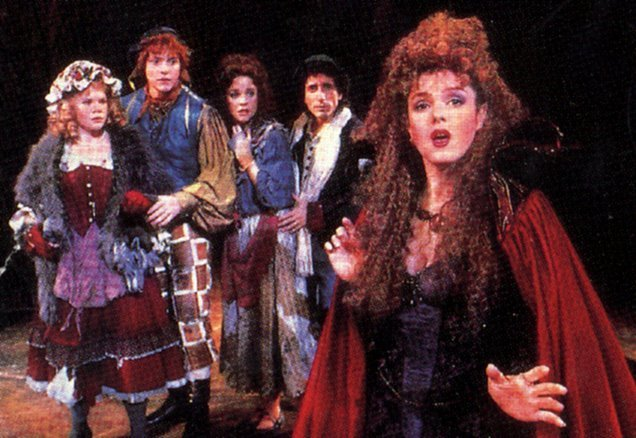 Into the Woods on Broadway. Original 1987-1989 cast, starring Bernadette Peters as The Witch.