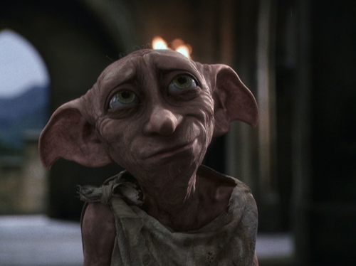 The beloved house elf, Dobby, from the  Harry Potter  series.