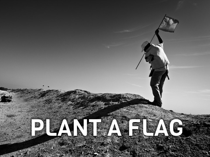 In difficult or complex terrain, flags are vital to give us confidence and direction in our path.