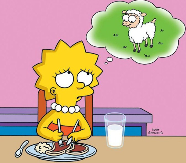 Lisa Simpson,  conflicted omnivore .