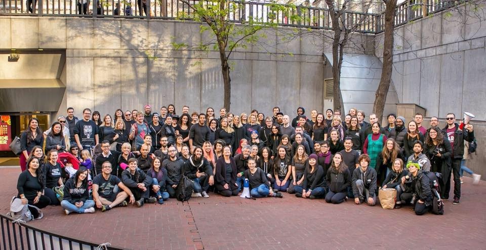 The Bay Area chapter after a protest in downtown San Francisco.