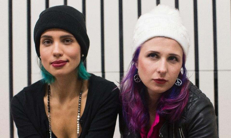 Nadezhda Tolokonnikova (left) and Maria Alyokhina, of Pussy Riot.