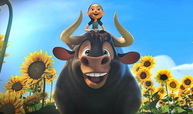 """Ferdinand,"" an animated animal rights film for kids about a gentle bull, will be in theaters Dec. 15."