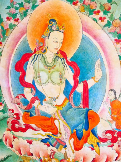 Yeshe Tsogyal, Samye fresco