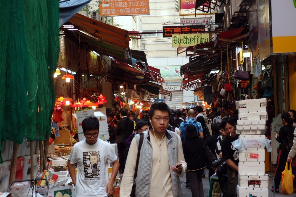 The unofficial Wanchai Market, still one of my favourite places to take photo's