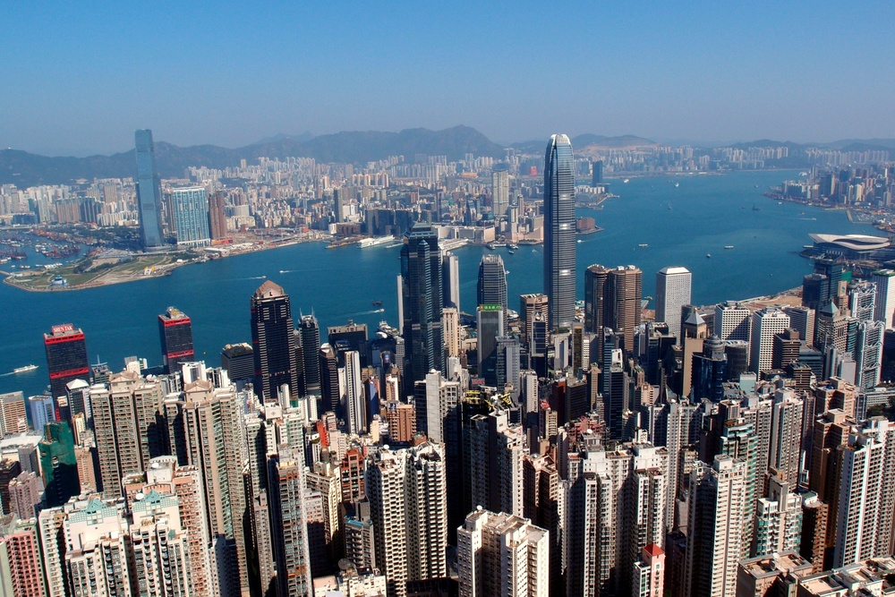 Absolutely the greatest city view in the world from the Peak in Hong Kong