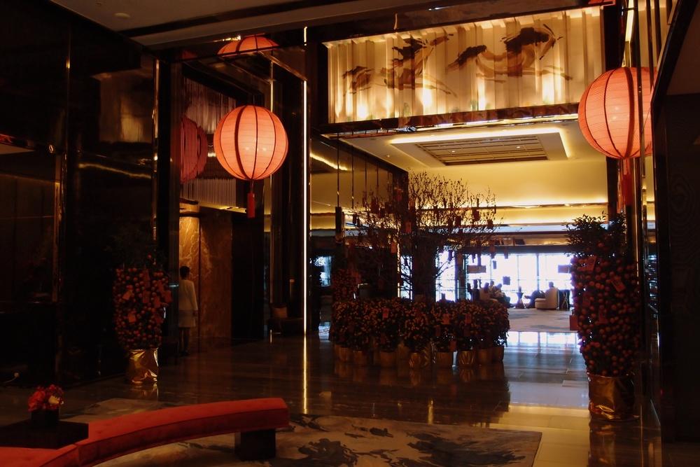 The Ritz Carlton Hotel Lobby 103rd floor!
