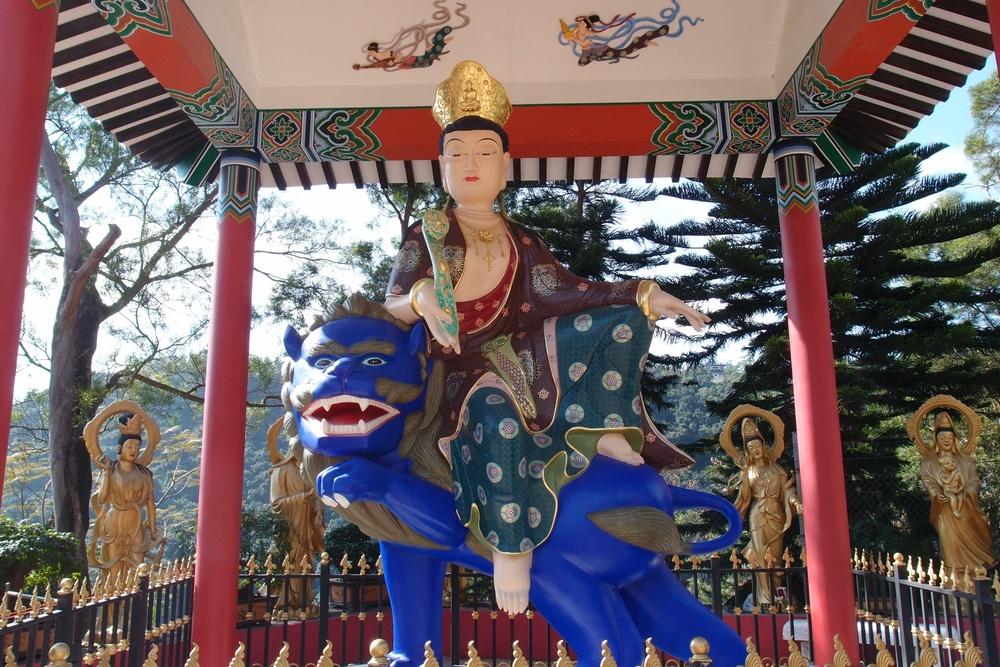 The Ten Thousand Buddha Monastery in Shatin