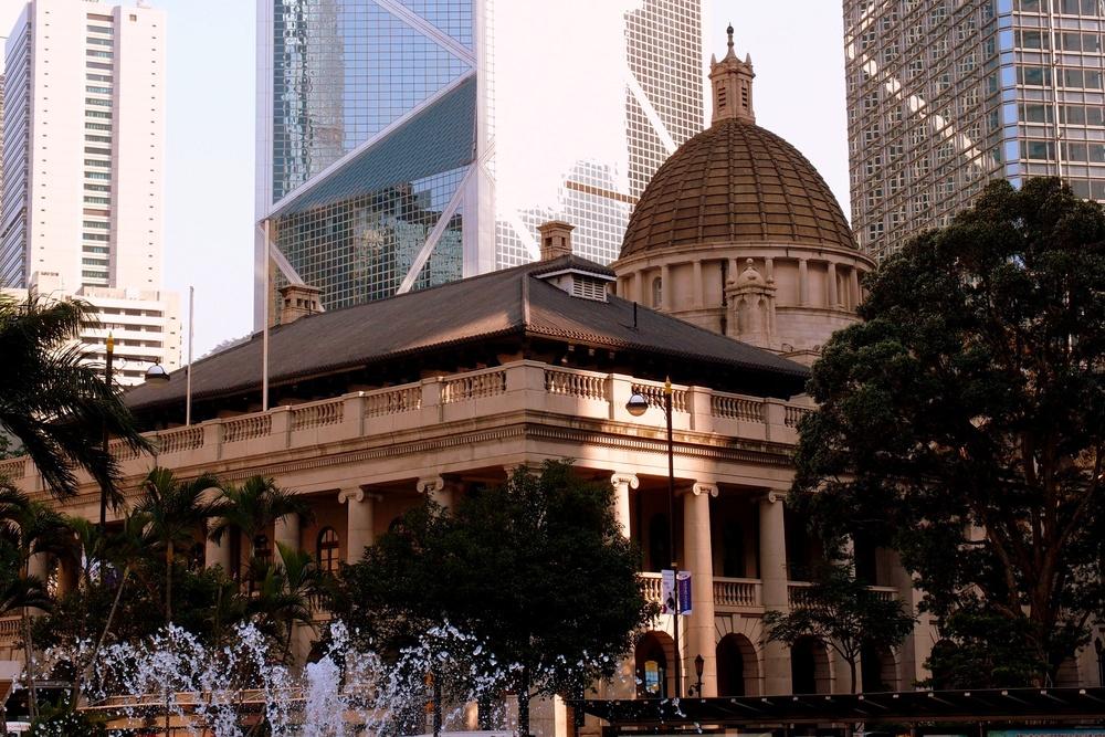 The old Legco building in Statue Square