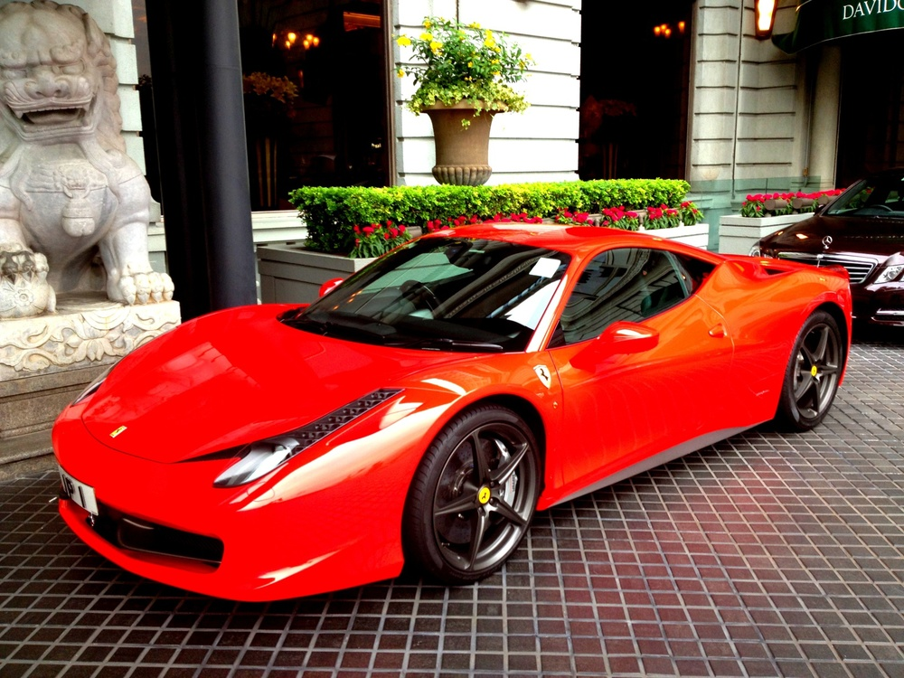 A simply stunning red Ferrari