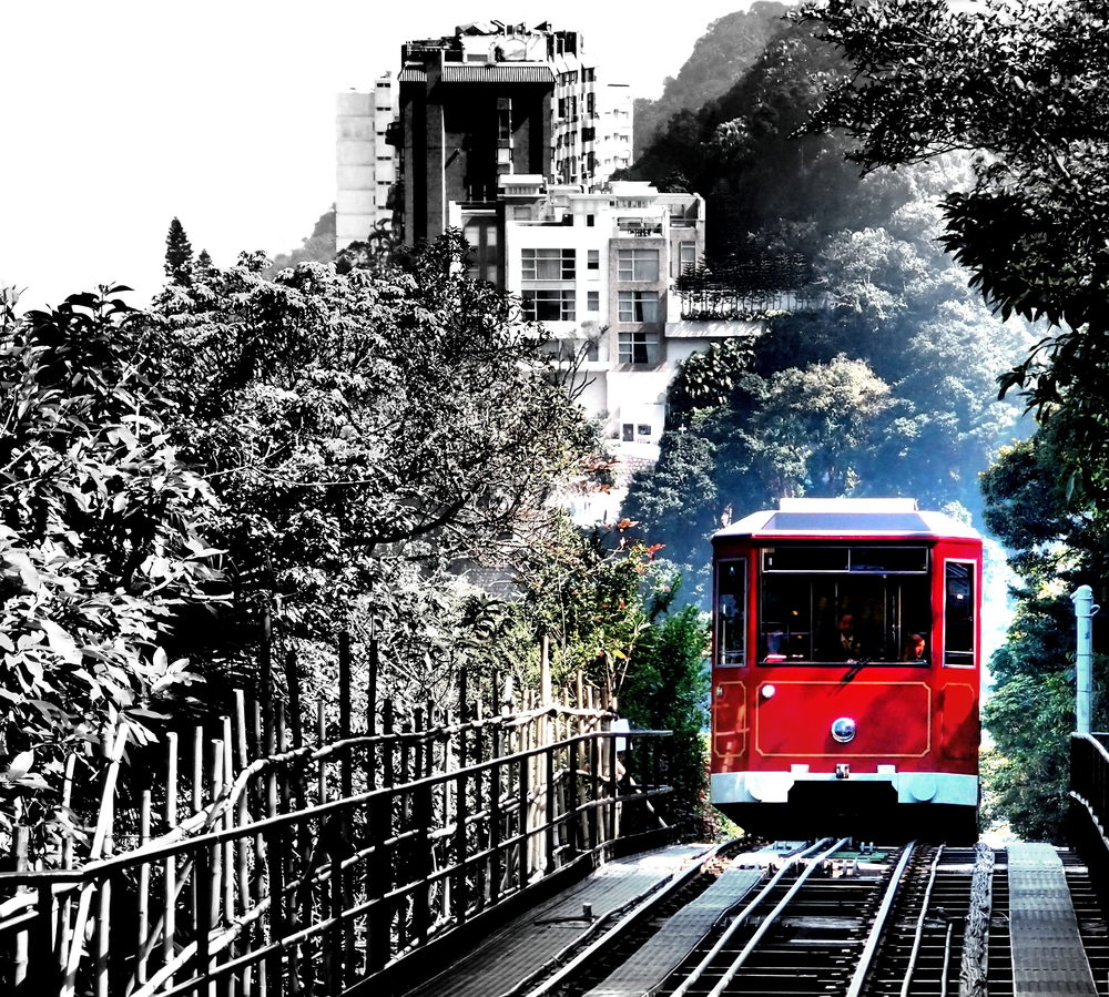 The simply iconic Peak Tram and it is classed as public transport.