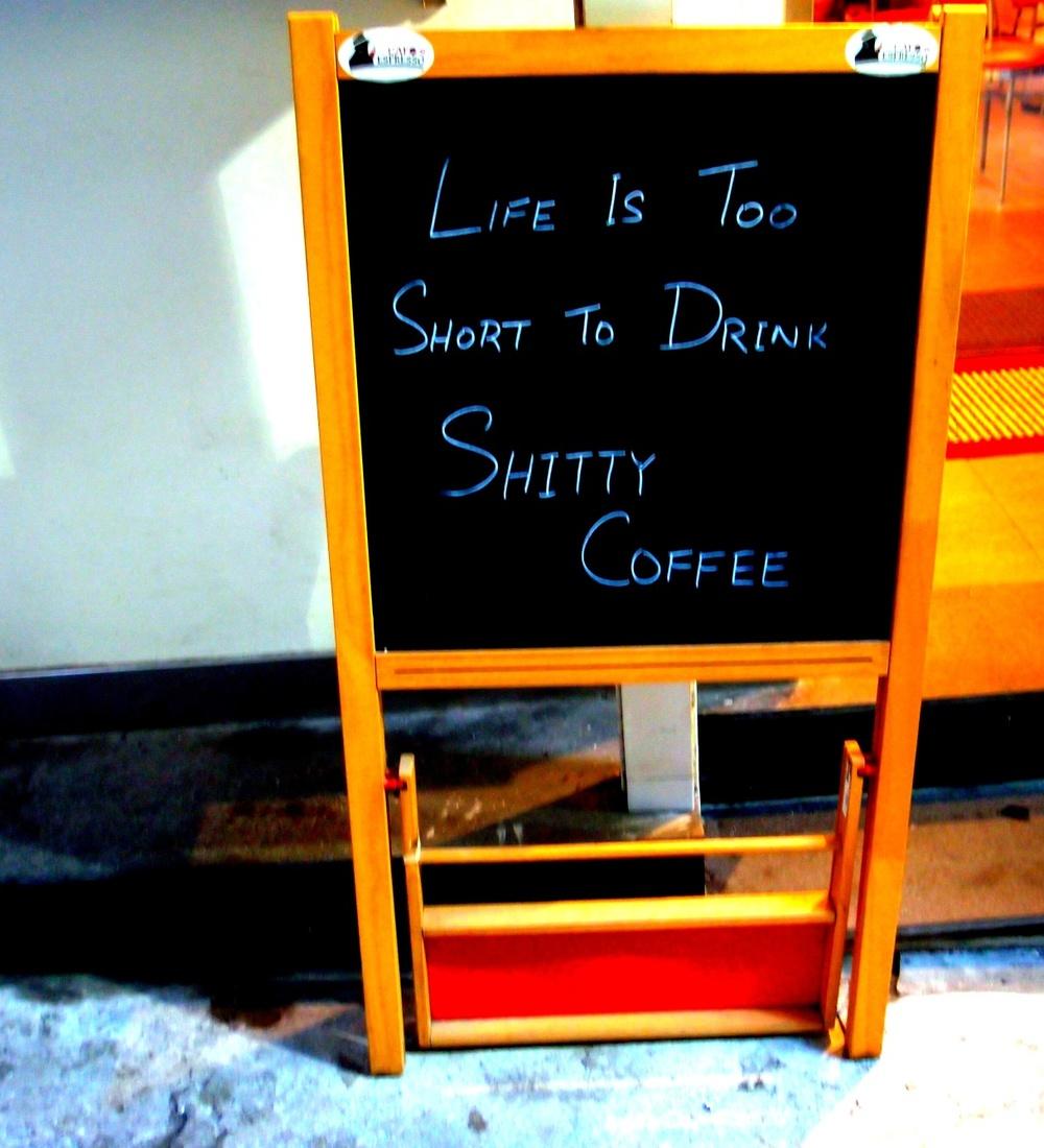 aimed at Starbucks I imagine
