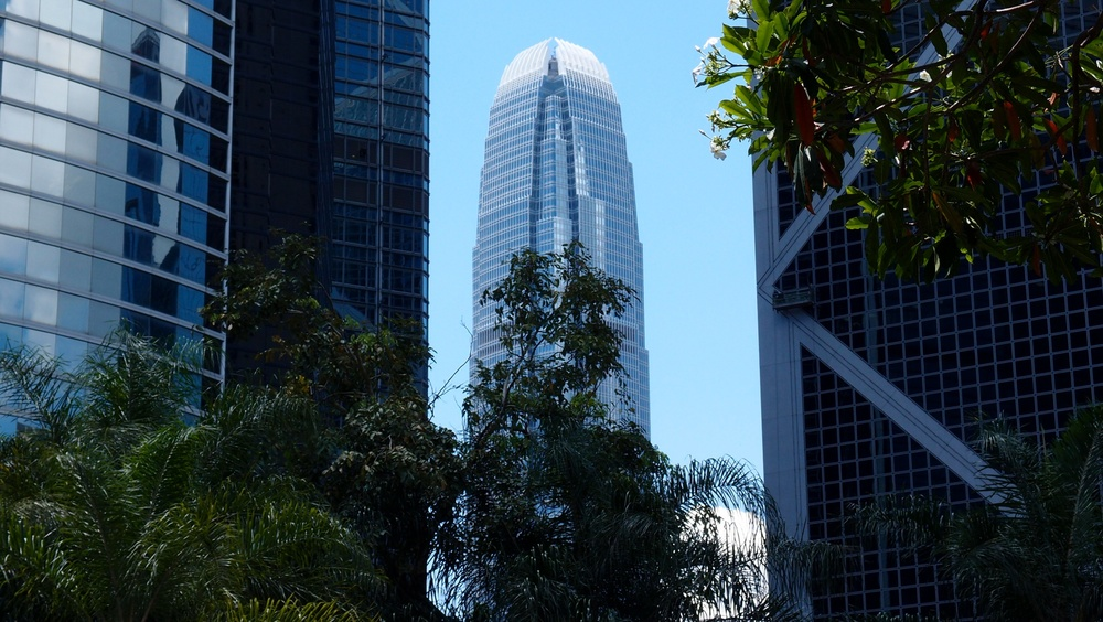 IFC 2 from within Hong Kong Park