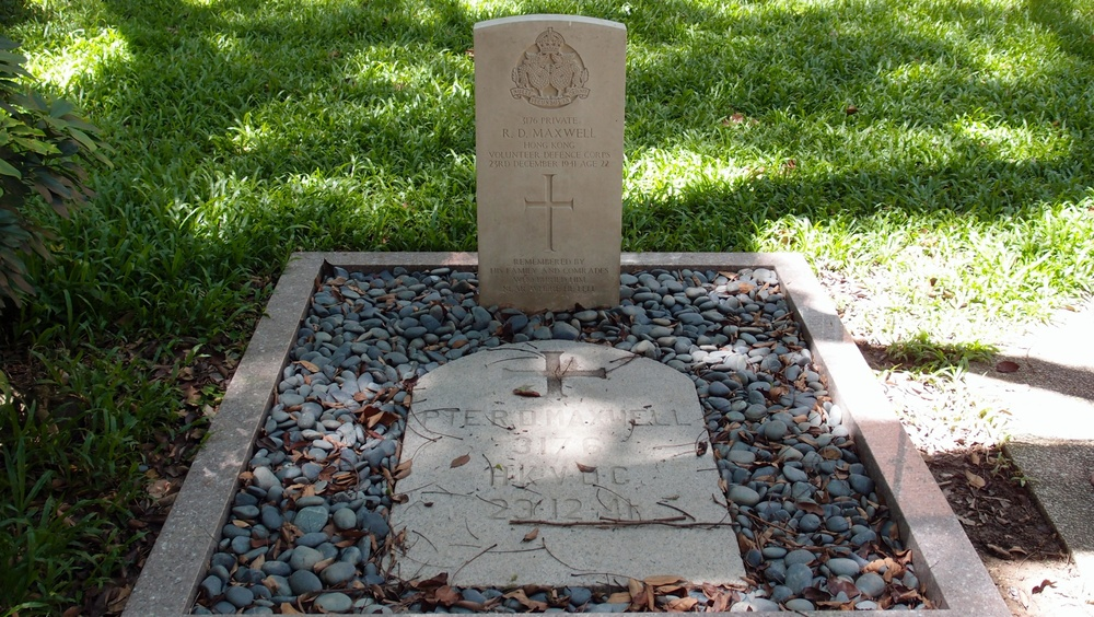 A war grave at St.Johns Cathedral, Hong Kong