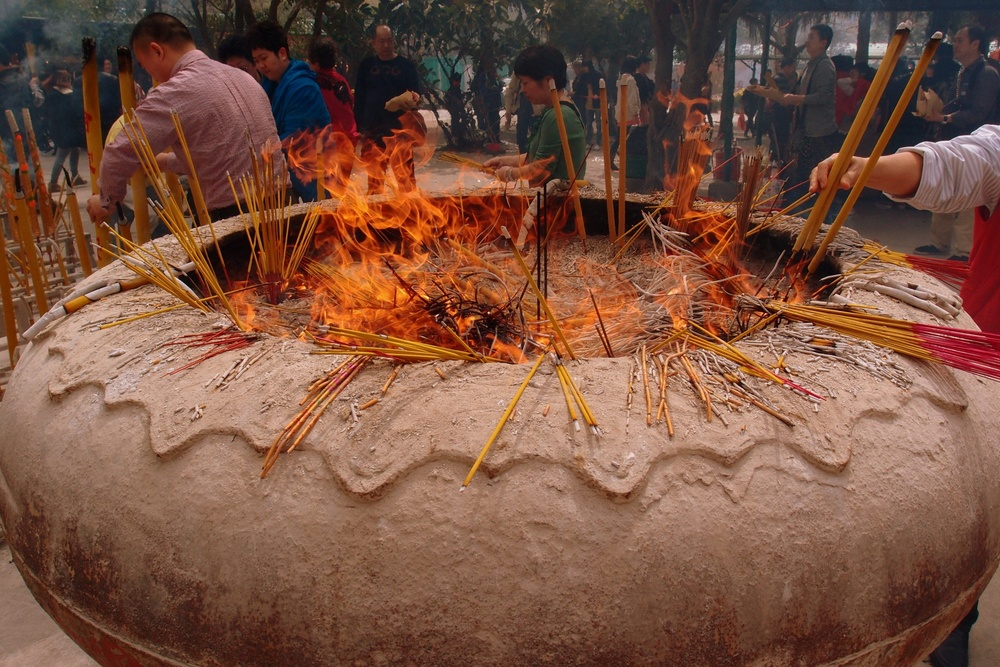 Igniting of joss sticks is allowed