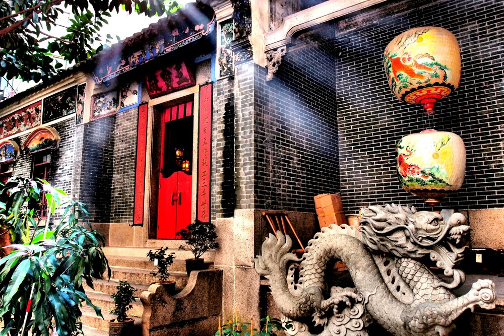 The Pak Tai Temple in Wanchai, 2 minutes walk from the Blue House, very old, very moody, very atmospheric and a must visit