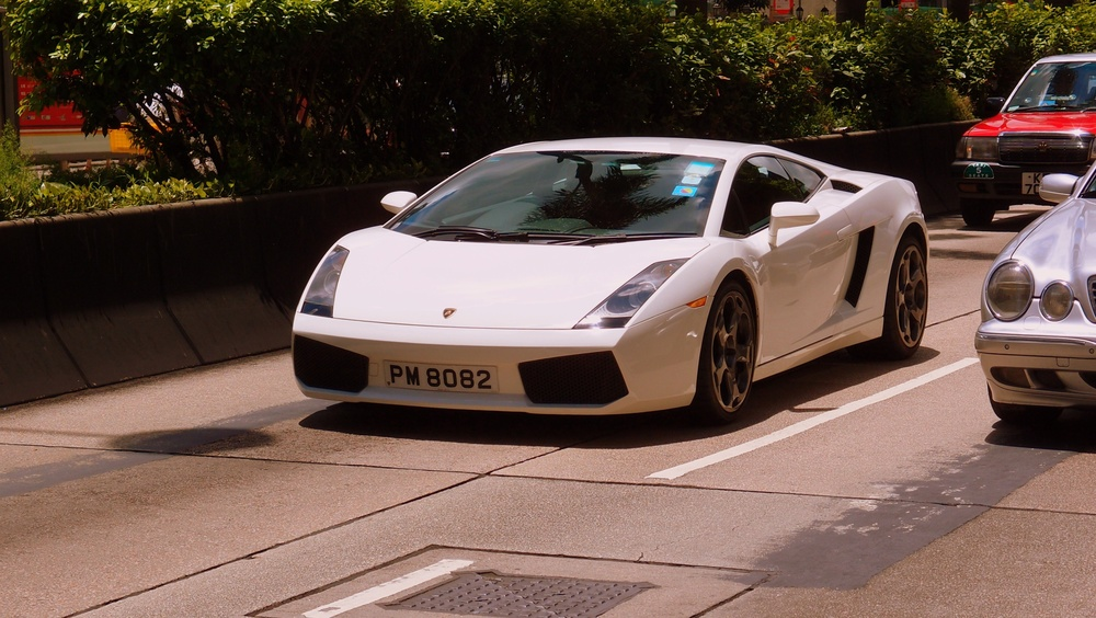 A stunning white Lamborghini