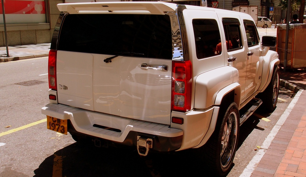Back view of a Hummer