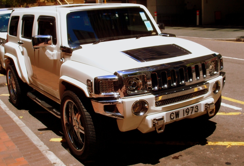 Front view of a Hummer