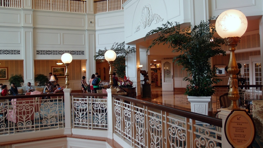 The interior of the Disneyland Hotel
