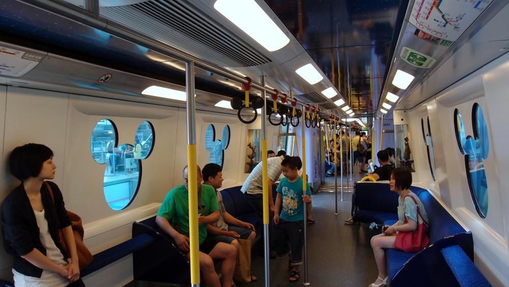 The Disneyland Train with velvet seats