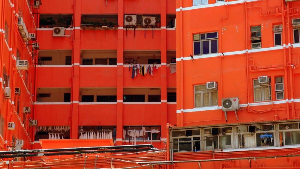 The orange building in Yaumatei