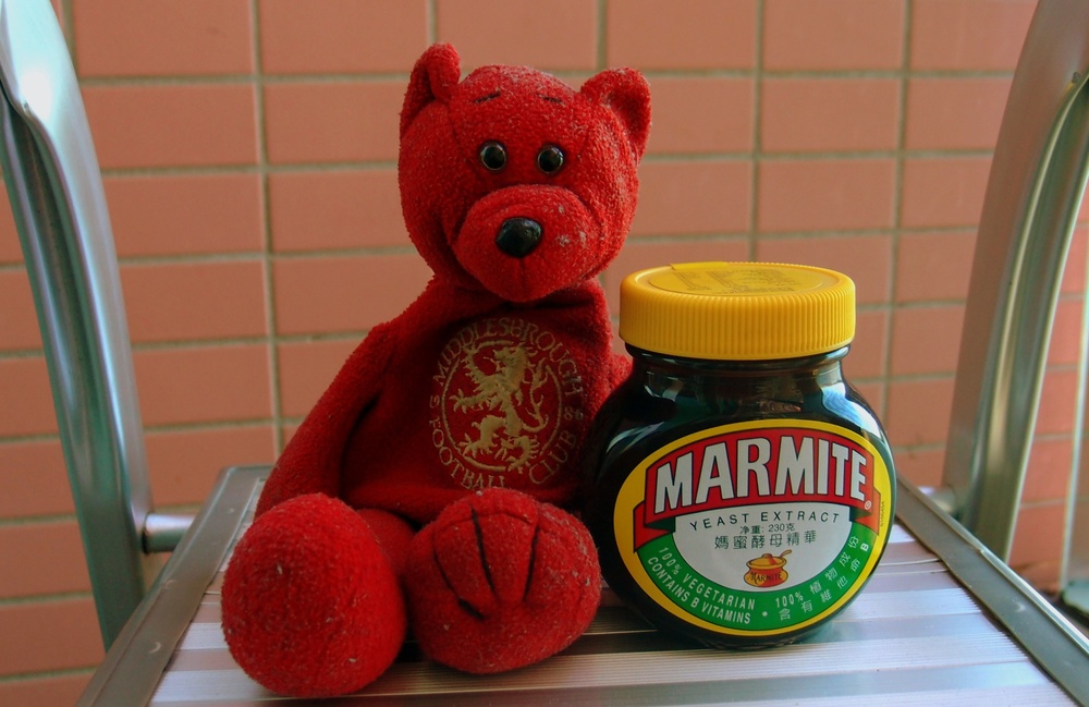Teddy loves Marmite