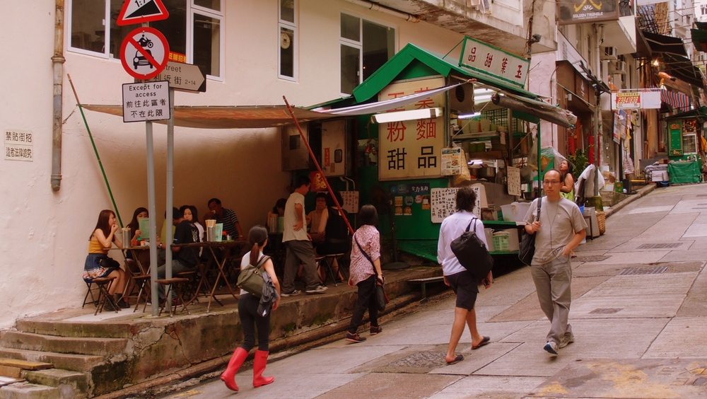 A famous noodle shop