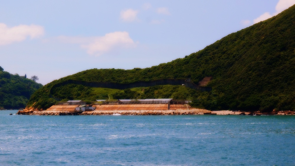 The old Green Island Detention Centre