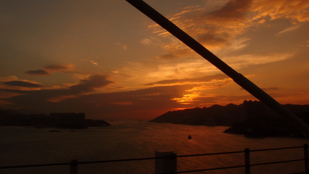 Not a typical Hong Kong Sunset!